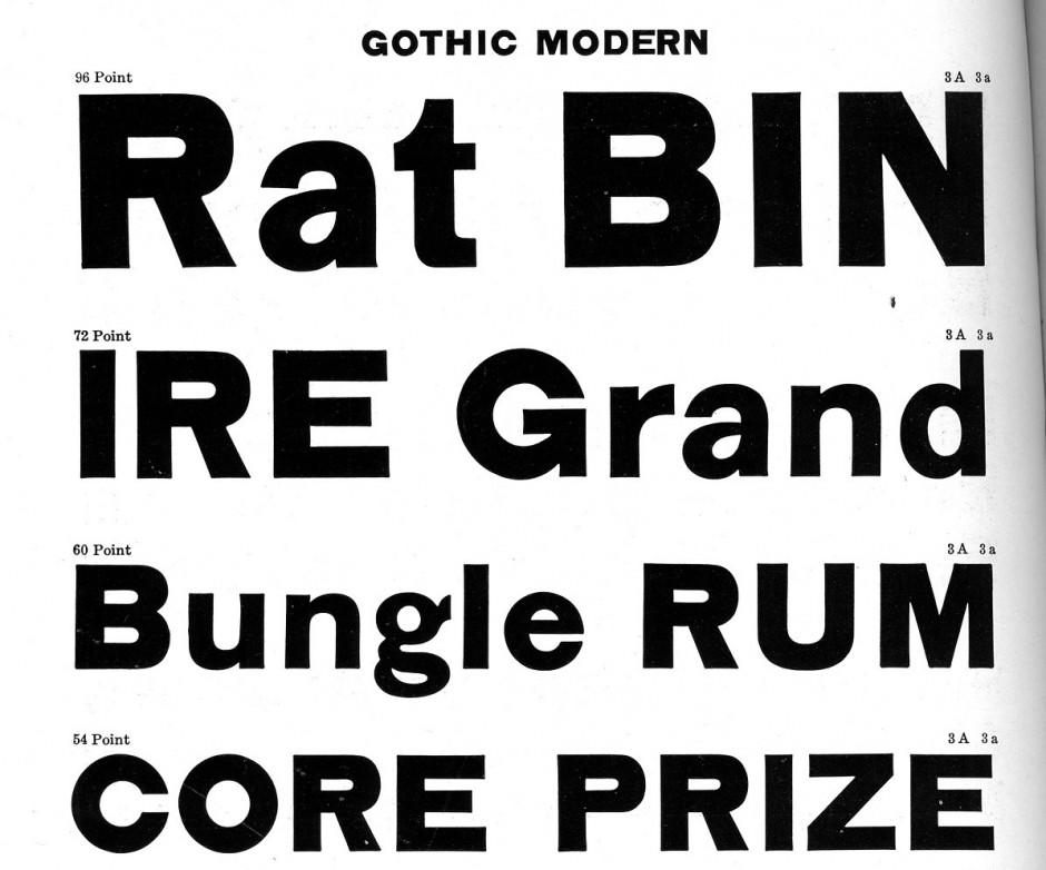 Gothic Modern Typeface