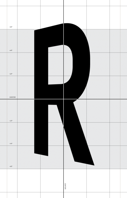 Letterform templates created for the sign painter